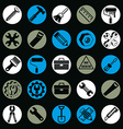Detailed work tools collection 3d repair vector image