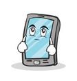 eye roll smartphone cartoon character vector image