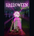 Halloween Zombie pulls hand to vector image