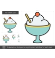 Ice cream line icon vector image