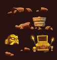 set of cartoon different elements vector image