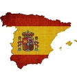 Spain map with flag inside vector image