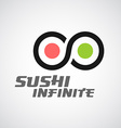 Sushi logo template Infinity sign vector image