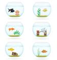 aquarium with fish 07 vector image