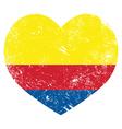 Columbia retro heart shaped flag vector image