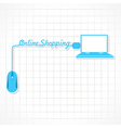 Online shopping concept with laptop vector image
