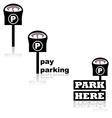 Parking meter vector image