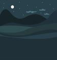 Rural night landscape vector image