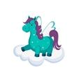Cute Pegasus on a Cloud vector image vector image