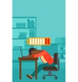 Employee sleeping at workplace vector image