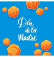 Happy Mothers Day Spanish Greeting Card Beautiful vector image