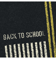 back to school road concept vector image vector image