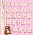 Newborn girl openwork lace font vector image
