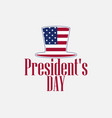 happy presidents day uncle sam hat and text vector image