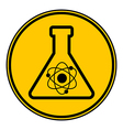 Laboratory glass button vector image
