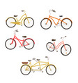 retro bycicles set vector image