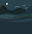 Rural night landscape vector image