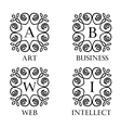 Simple monogram with the letter in the middle vector image