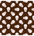 Sugar skull seamless pattern vector image