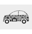 House the car vector image vector image