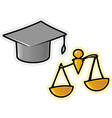 objects for justice vector image vector image