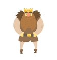 Barbarian King With Animal Pelt On Shoulders vector image