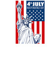 liberty statue independence day vector image