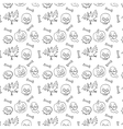 Black and White Textile Halloween Fun Pattern vector image vector image