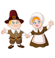 pilgrim couple vector image