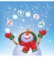 snowman2014 vector image