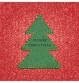 Jeans background leather Christmas tree vector image vector image