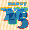 Childish New Year card with 2015 sign vector image vector image