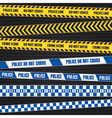 Police Warning Tapes vector image