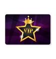 VIP Members Card vector image vector image