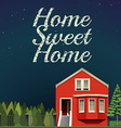 Home sweet home at night vector image