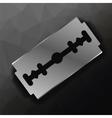 Metal Razor Blade vector image vector image