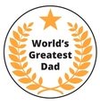 Worlds Greatest Dad label vector image