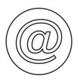at symbol icon vector image