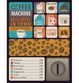 coffee machines for hot drinks vector image