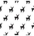 Deer black and white kid scandinavian pattern vector image