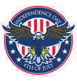 eagle badge of independence day of united states vector image