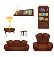 furniture room interior design home decor concept vector image