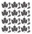 grape leaves seamless pattern design vector image
