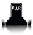 gravestone silhouette vector image