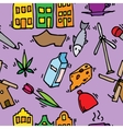 Holland icons pattern vector image