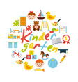 icons set kinder garten vector image