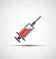 logo medical syringe vector image