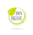 Organic product emblem on white background vector image