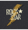 Rockstar Grunge star with lettering Tee print vector image