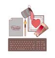 set work elements graphic design creative process vector image